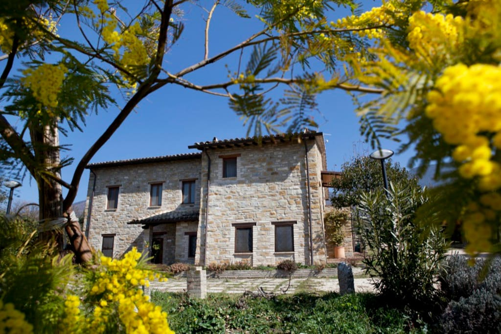 The Villa - The Suite is on top floor with magnificent view to Assisi