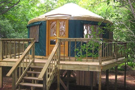 Treehouse Yurt w/ Modern Amenities - East Meredith