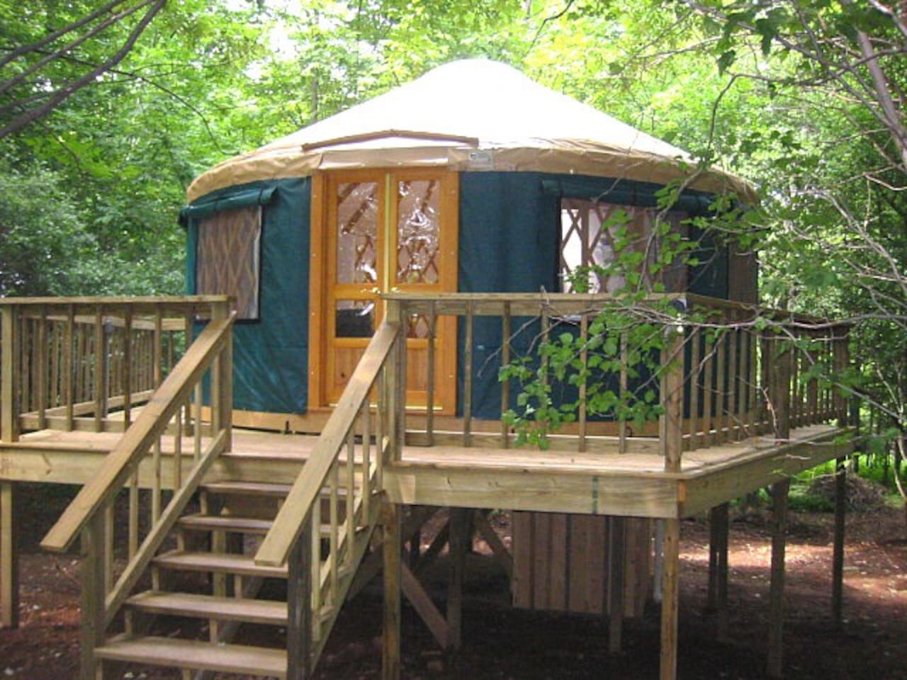 Tree House Yurt......Glamping in Style
