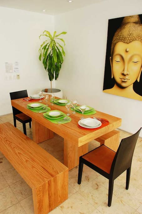 Magia Garden Siesta / dining- Living room overlooking the common areas