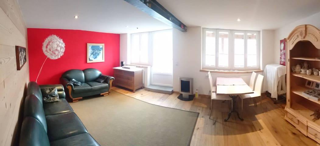Neue 2,5-Zimmer Wohnung mit Gartensitzplatz - Schwanden bei Brienz - Appartement