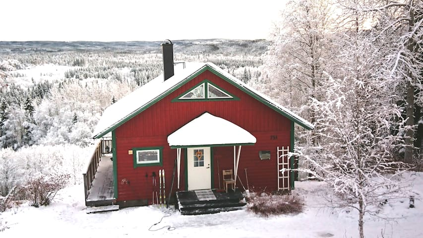 Cosy woodhouse with a great view, 15 min from Åre