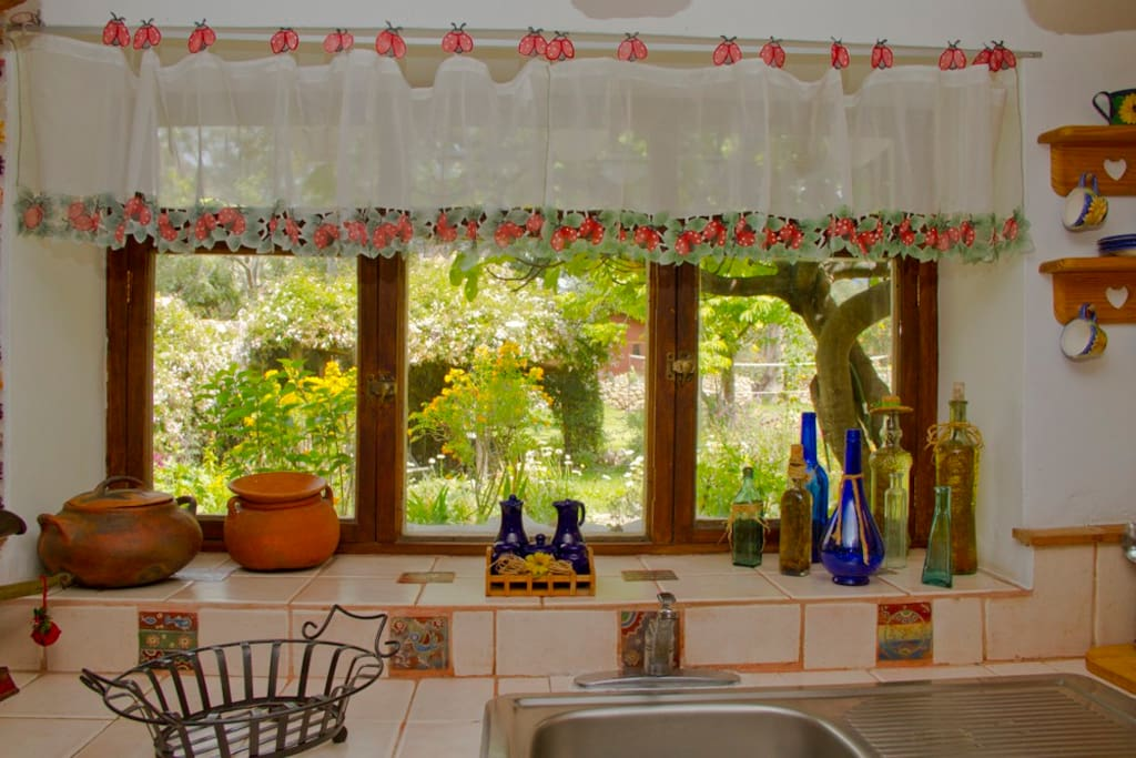 kitchen / garden view