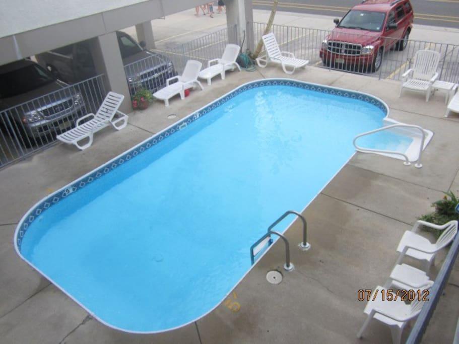 Heated pool onsite