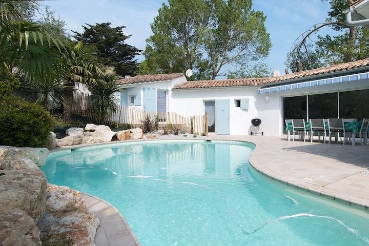 Très belle villa (4*) - piscine/100m de la plage !