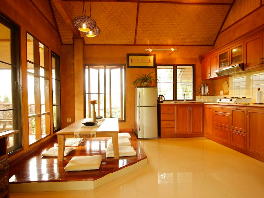 Kitchen with Japanese Style Table