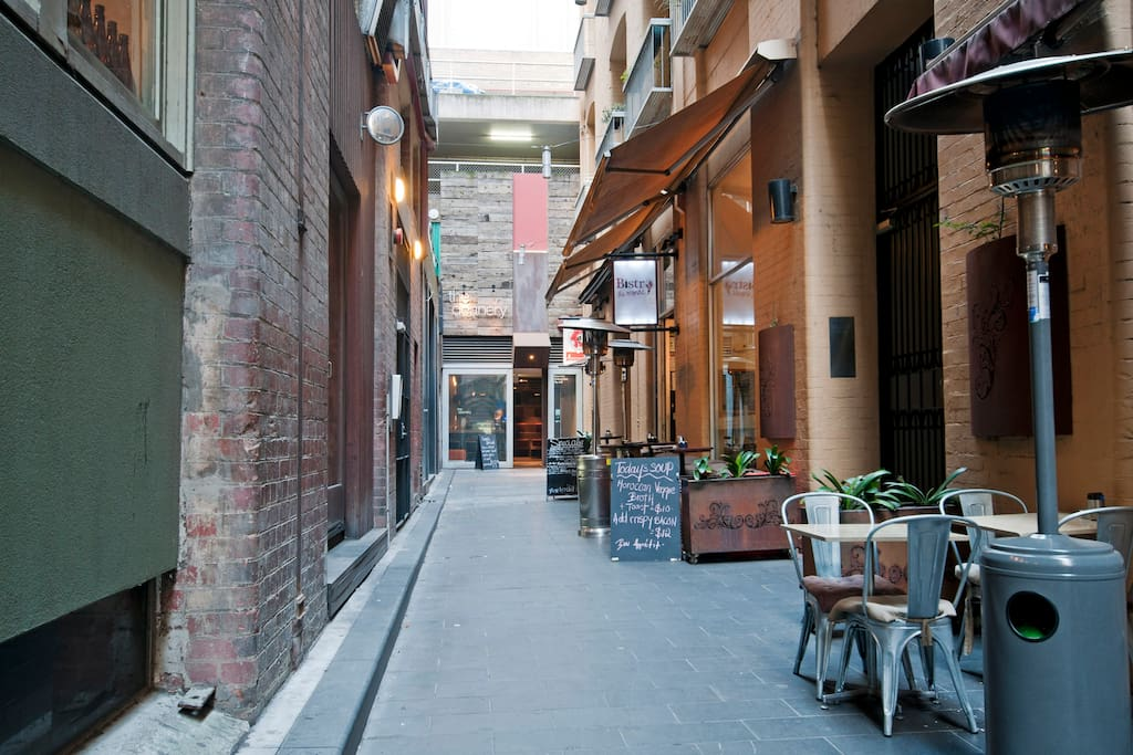 Nestled in a European style Premier Lane-way, joining Flinders Lane in the heart of the CBD