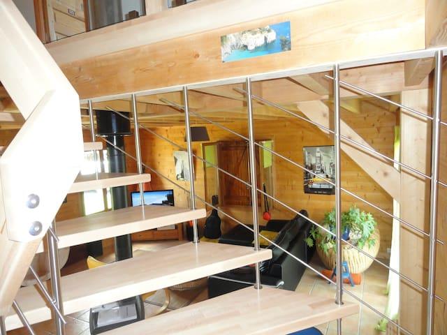 Maison en bois chambre privée - Escaunets - Casa