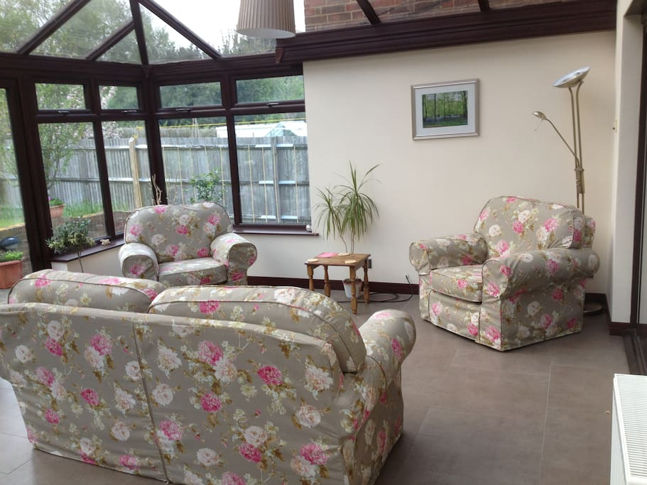 Conservatory Seating Area for Use by Guests and Visitors in the Early Evening