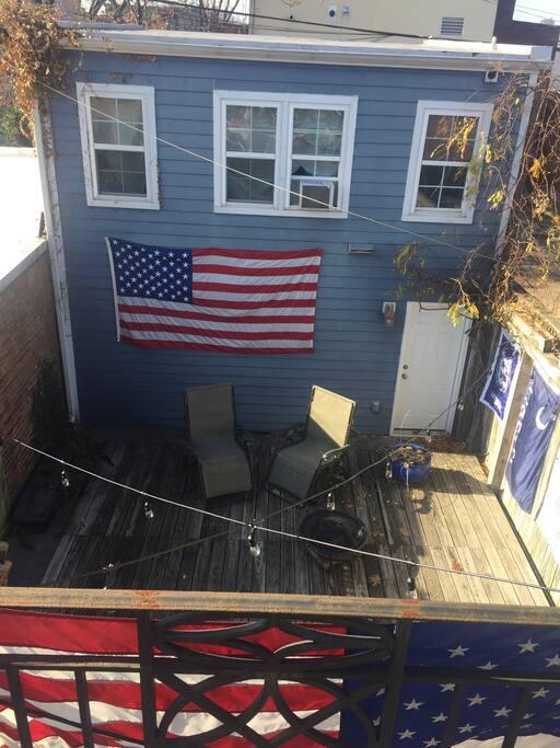 From the master bedroom balcony