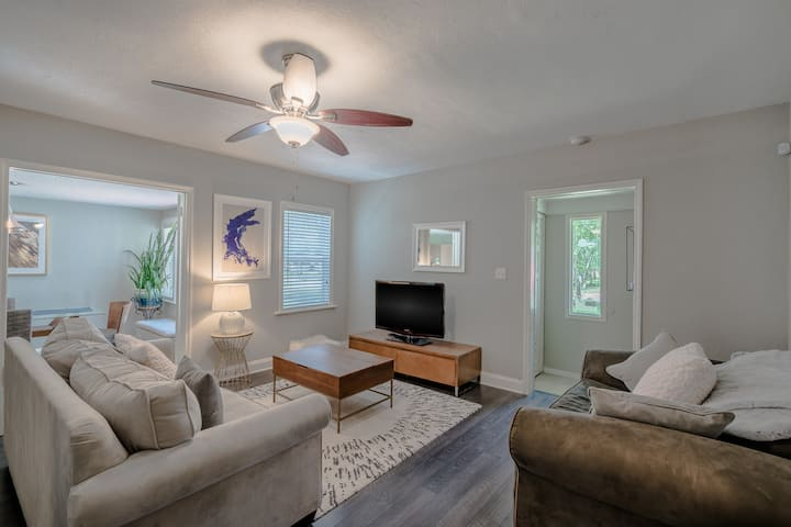 Clean, Centrally Located Tampa Home with Firepit