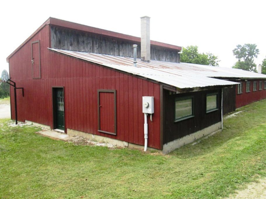 The main barn includes The Stable guest suite: newly renovated with plenty of space and light.