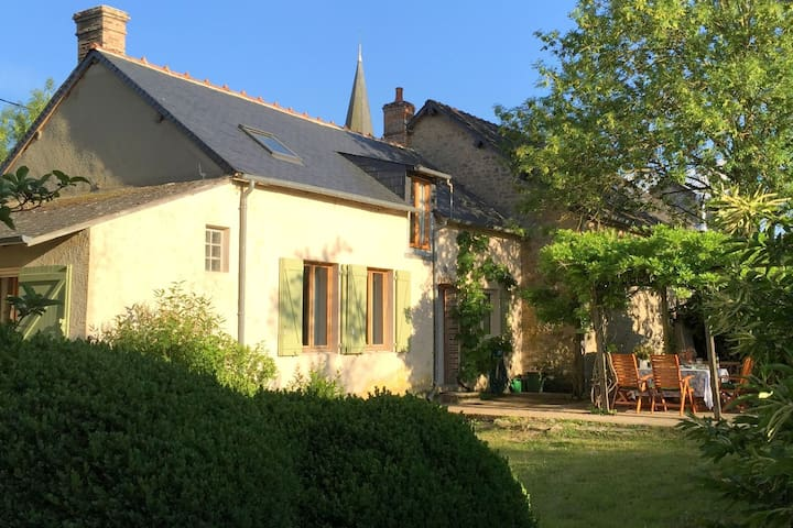 Cosy detached holiday home with rural garden in culturally rich France