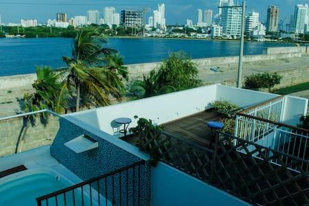 Encantadora habitacion - centro - Jacuzzi privado - Cartagena - Dormitório