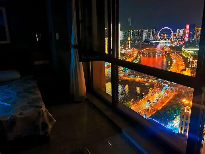 【天津之眼全景】意风区/古文化街观景一居