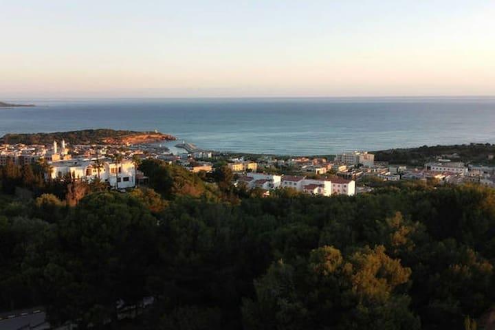 Appartement vue sur Mer (photo prise du balcon)