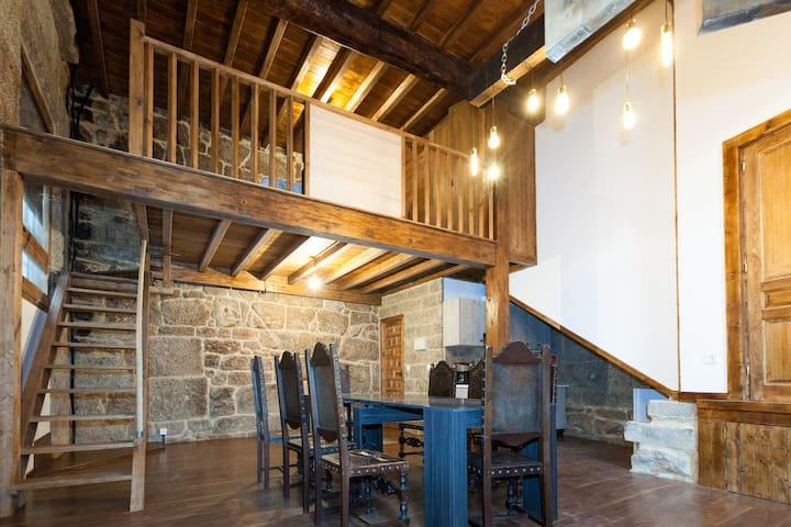 Apartamento medieval con desayuno de panadería - Ribadavia - Lägenhet