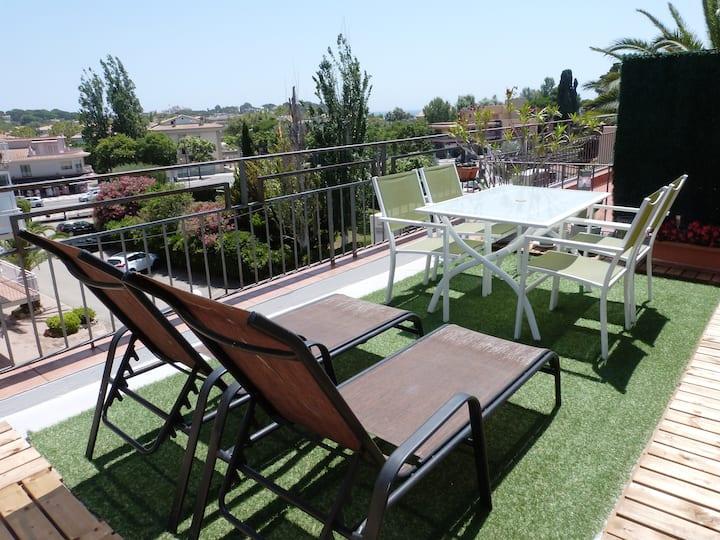 Apartamento familiar con terraza en S'Agaró