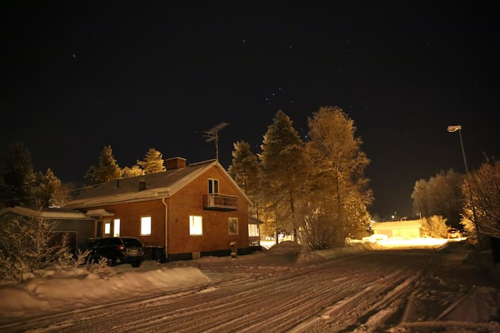 House in Jorn, Swedish Lapland