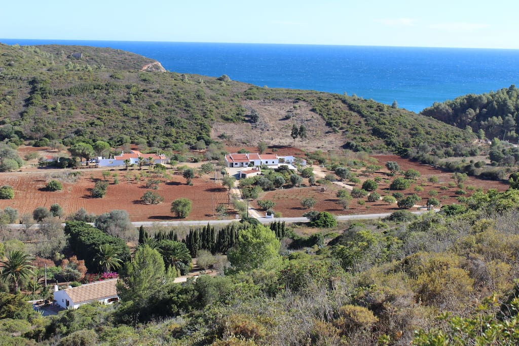 """The house in the left corner is Casa Dania - only 700m from the dream beach """"Cabanas velhas"""""""