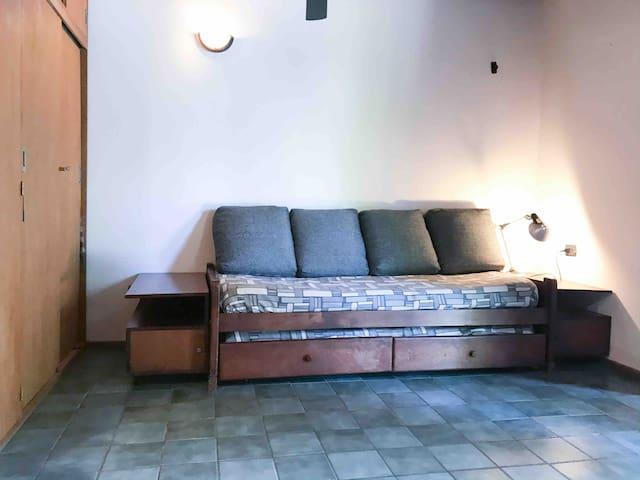 Secondary Sofa hiding 2 beds