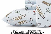 Cozy Eddie Bauer Flannel Sheets provided for the colder months