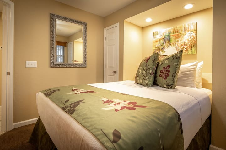 The third bedroom also features a comfy queen bed.