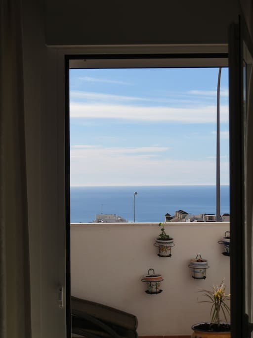 Terrace (share) with view for the mediterranean sea.