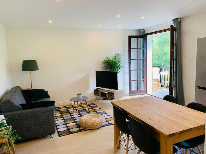 Cosy apartment close to Hossegor Lake with parking