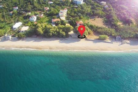 Beachfront cute apartment (Plomari,Agios Isidoros)