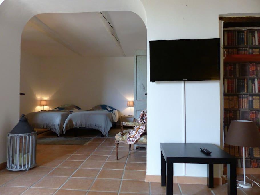 chambre avec 2 lits en 90x190