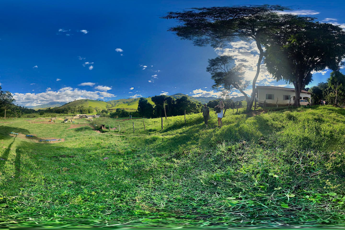 360 view of the southern section of the farm, by the main house.