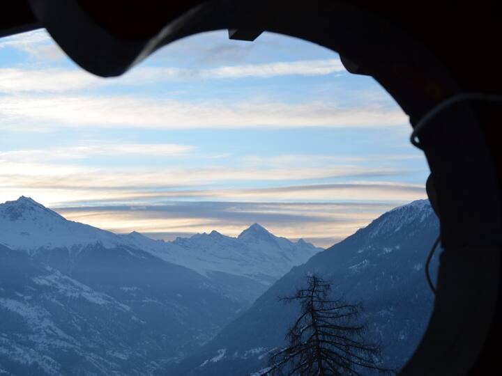 Ferienwohnung mit Matterhornblick im 4-Vallées