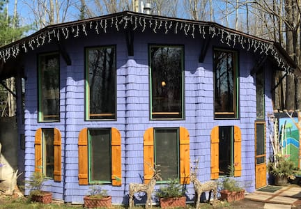 Birchwood Blue Cabin in the Forest - Cabin