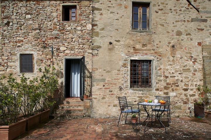 Stunning views apartment  Chianti farmhouse