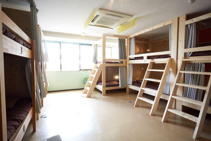Hostel Casa Noda 男女混合宿舍房(適合1人) - 含早餐,包括清潔