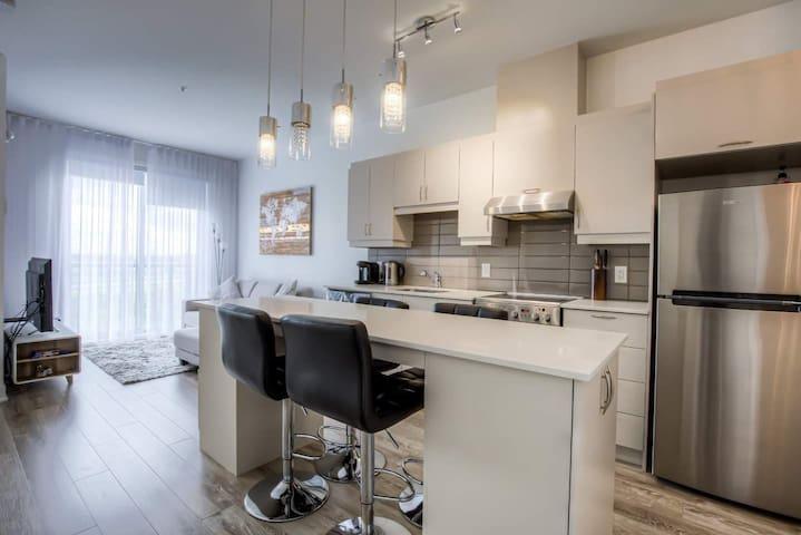 Luxury condo in Brossard with underground parking