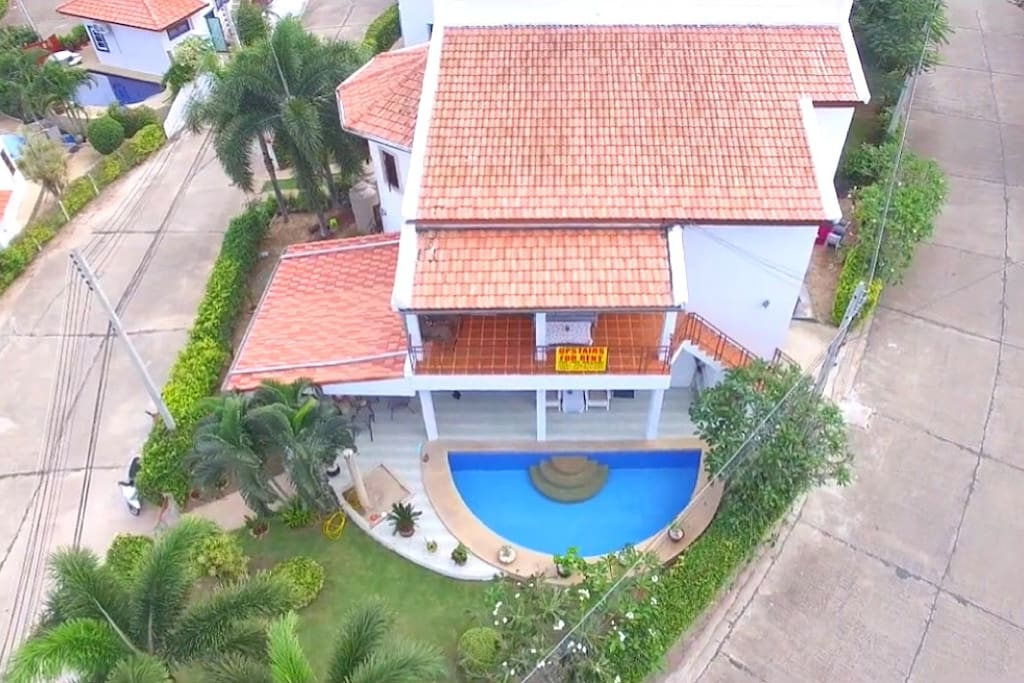 High angle view of the house.