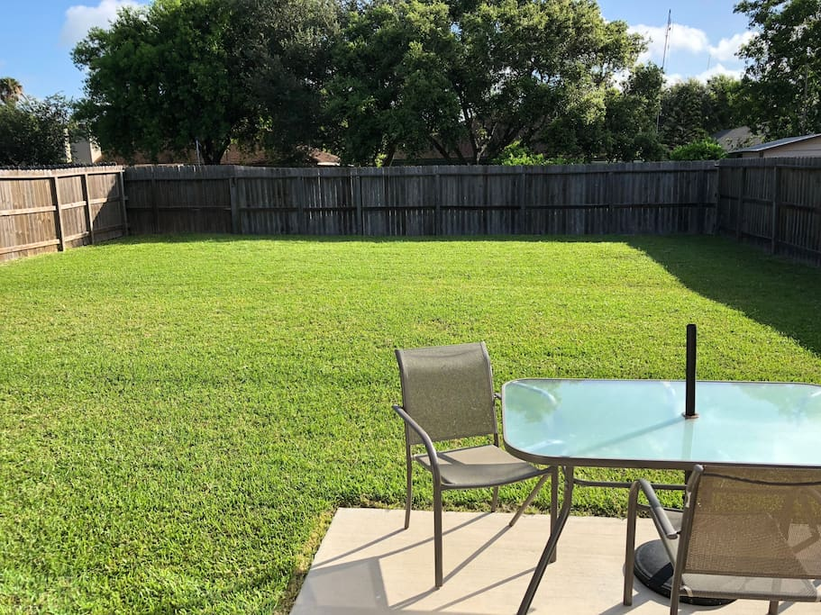 Large Backyard and Patio Area with Gas Grill