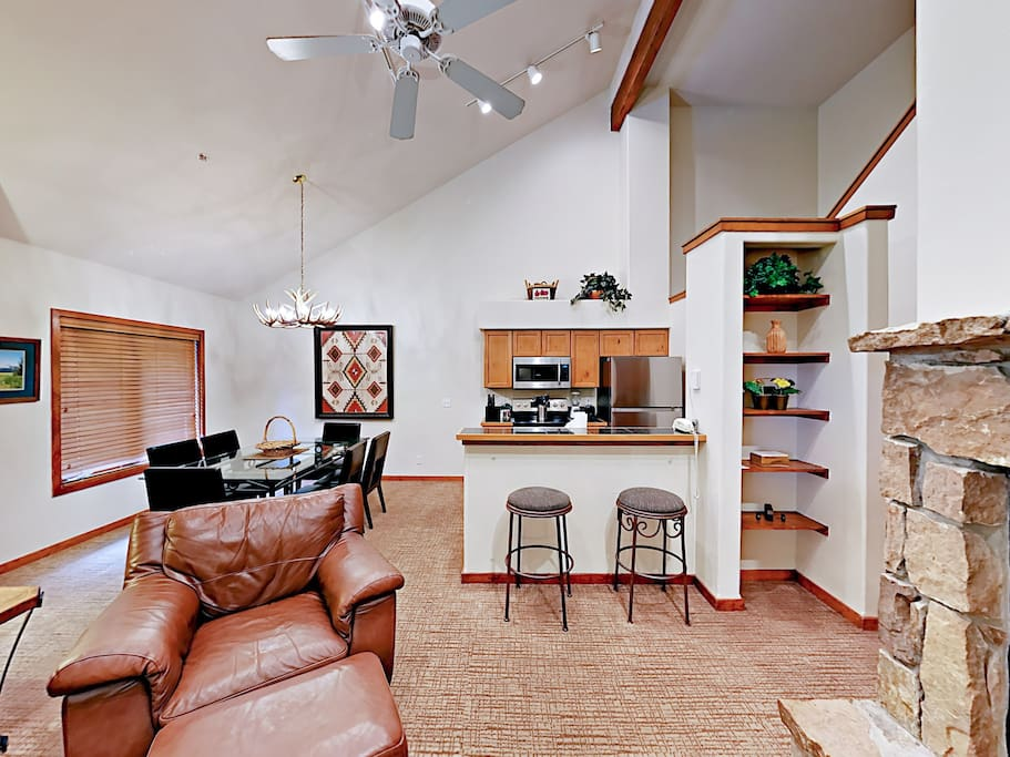 This open-concept space is great for a group to relax and socialize together.