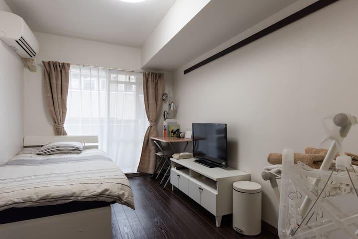 5min to SHIBUYA!Cozy dbl room w/Free Pocket Wi-Fi - Meguro-ku - Daire