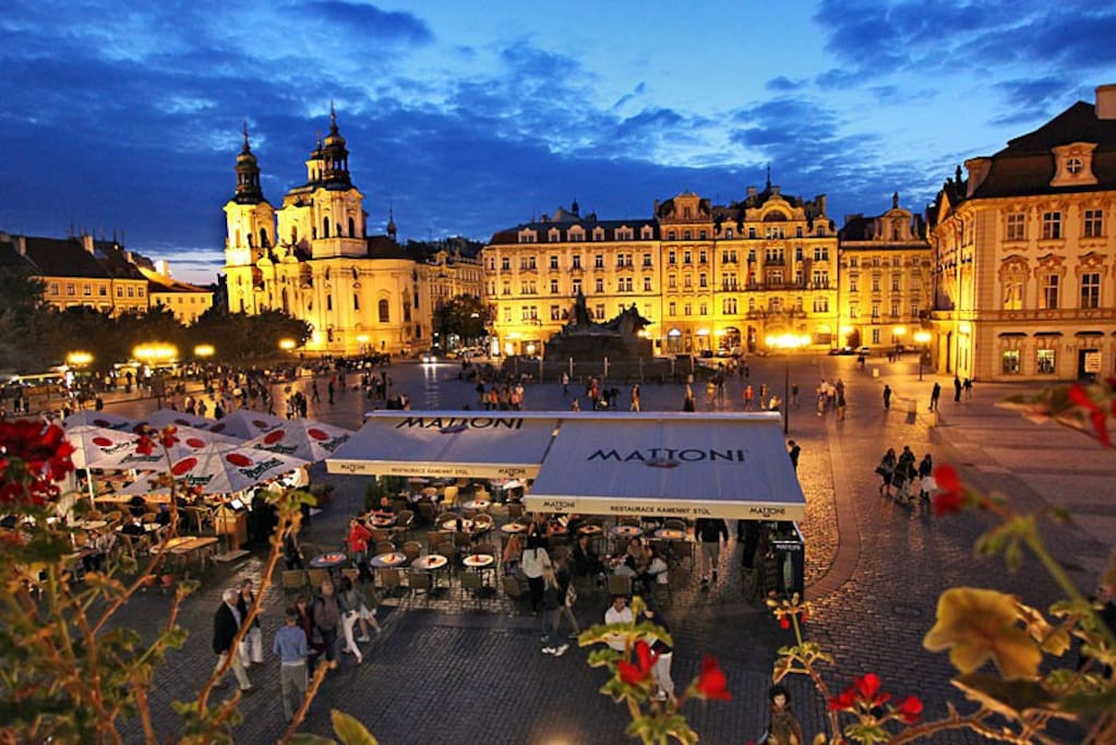 5 minutes by metro and you will be in Old Town Square ..really beautiful! :)