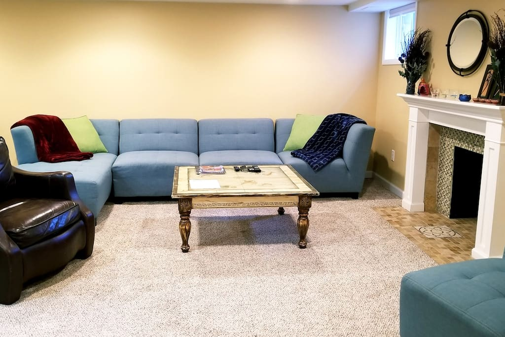 Spacious family room all for your use
