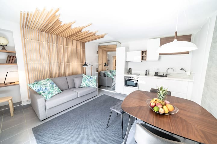 Studio JACQUARD avec terrasse-Oullins centre-Lyon