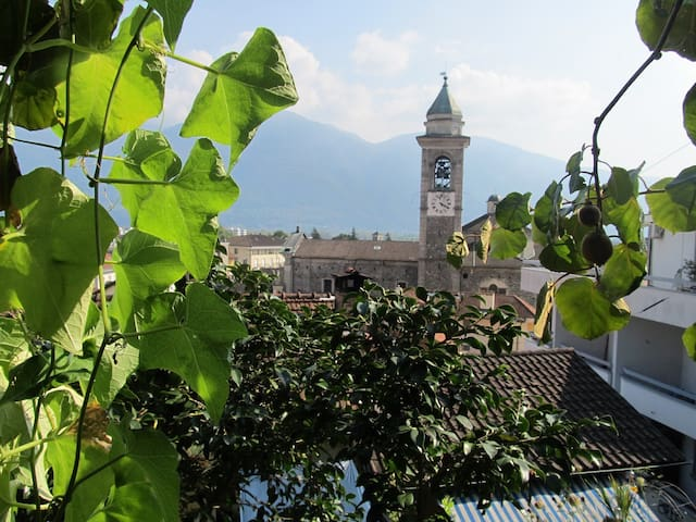 view from the bench in the garden (Sant'Antonio church)