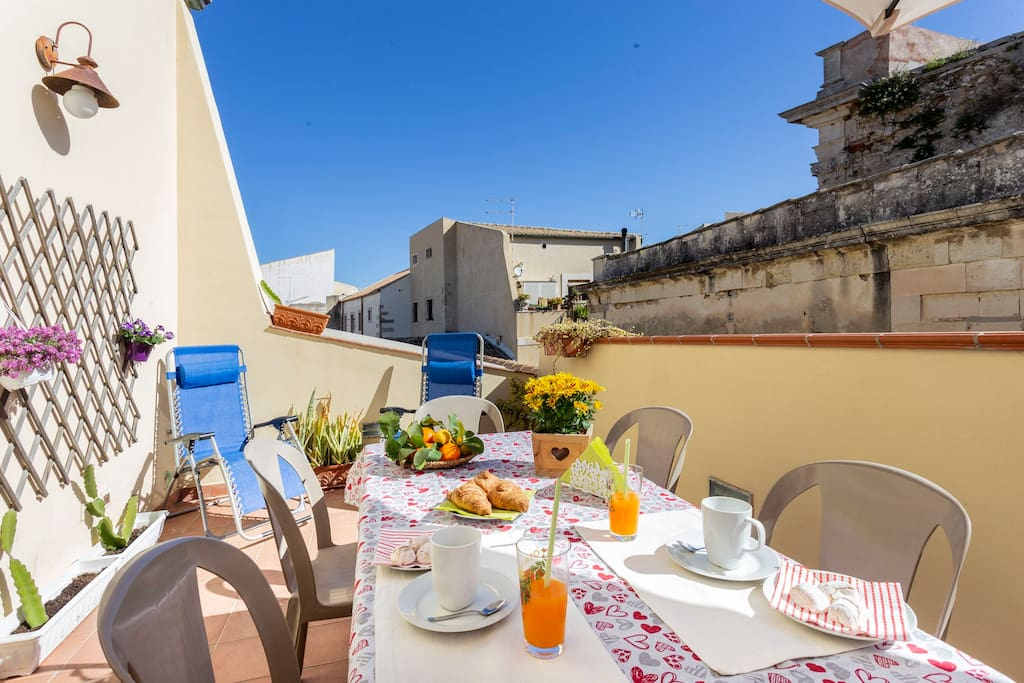sicilian breakfast in your private and quiet terrace