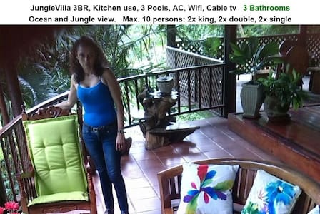 JungleVilla, 3BR, Max.10p, 3 Pools, Kitchen use - Quepos