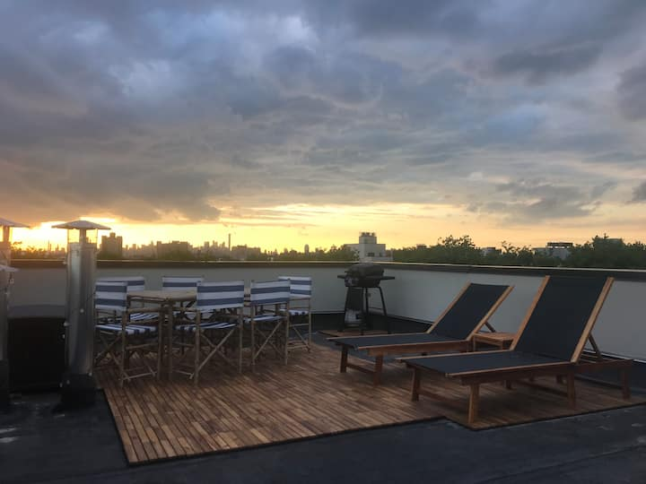 1BR  Breathtaking view w/Private Roof Top Bushwick