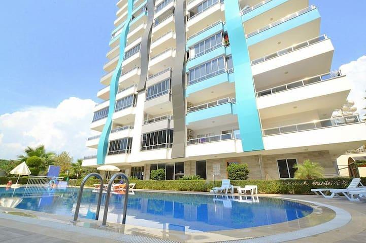 Mahmutlar Alanya Spacious 1+1 Apartment Near Beach