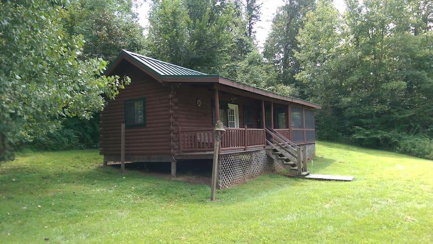 Cabin Borders Woodbury Wildlife Area
